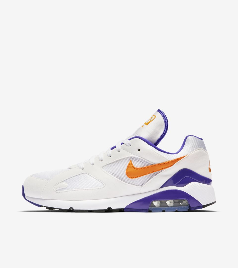 new concept more photos buy good Nike Air Max 180 'Bright Ceramic & Dark Concord' Release ...
