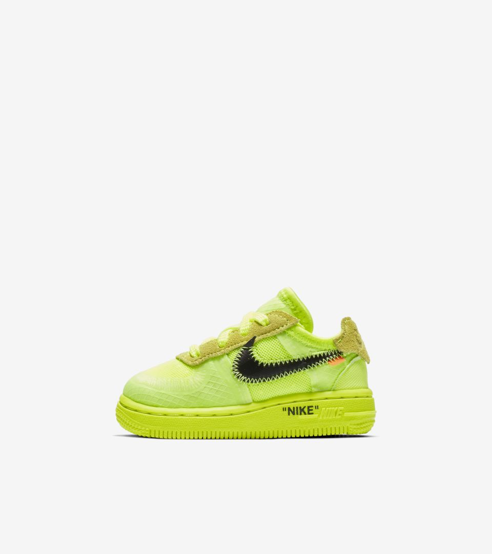 big sale 1d6da 06d61 The Ten  Toddler Air Force 1 Low  Volt   Black   Hyper Jade  Release Date.  Nike⁠+ SNKRS