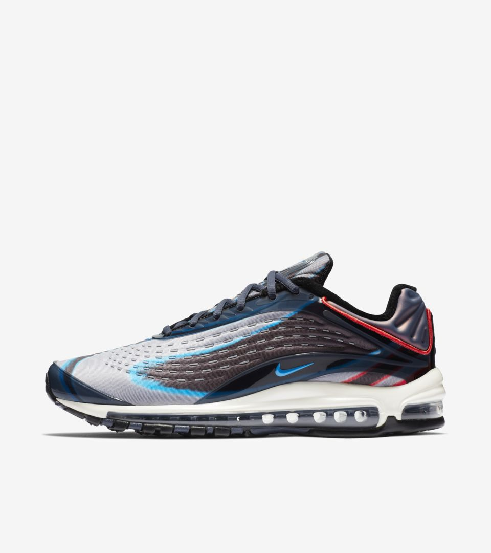 d0b9ad5e3e9 Nike Air Max Deluxe  Thunder Blue   Wolf Grey   Black  Release Date. Nike+  SNKRS