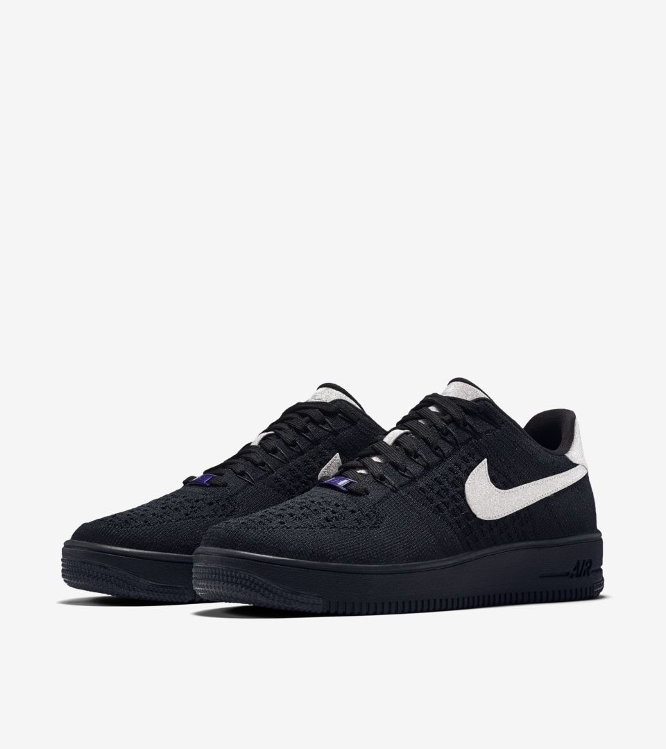 best website 9e8bc 191c0 Nike Air Force 1 Ultra Flyknit Low 'Black & Metallic Silver ...