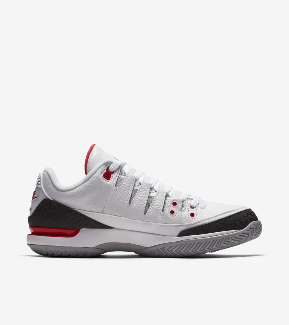08866fe19dd0 NikeCourt Zoom Vapor RF x AJ3  Fire Red . Nike+ SNKRS