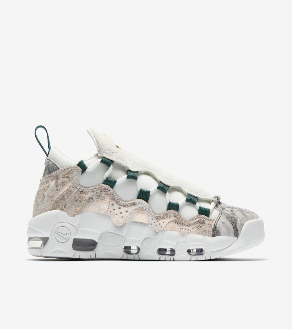 fef2e9a8987 Women's Nike Air More Money 'Summit White and Oil Grey' Release Date ...