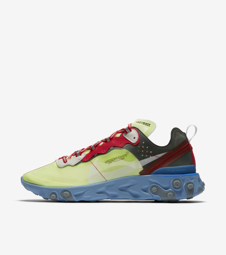 Nike React Element 87 Undercover 'Volt & Black & University Red' Release Date