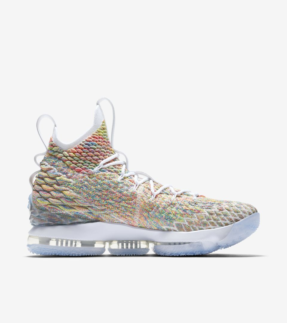 981496db61a4f Nike Lebron 15  White   Multicolor  Release Date. Nike⁠+ SNKRS