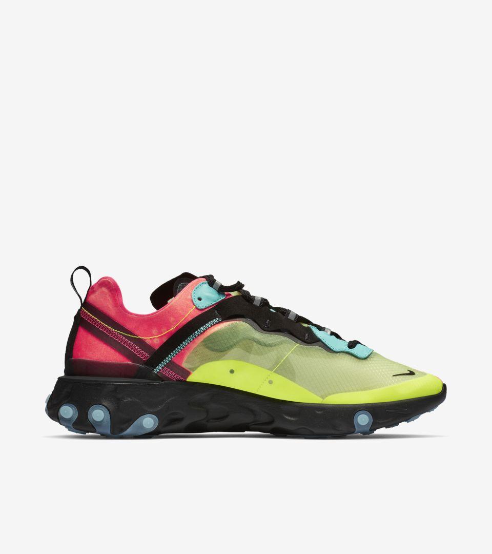 Nike React Element 87 'Volt & Racer Pink & Aurora' Release Date