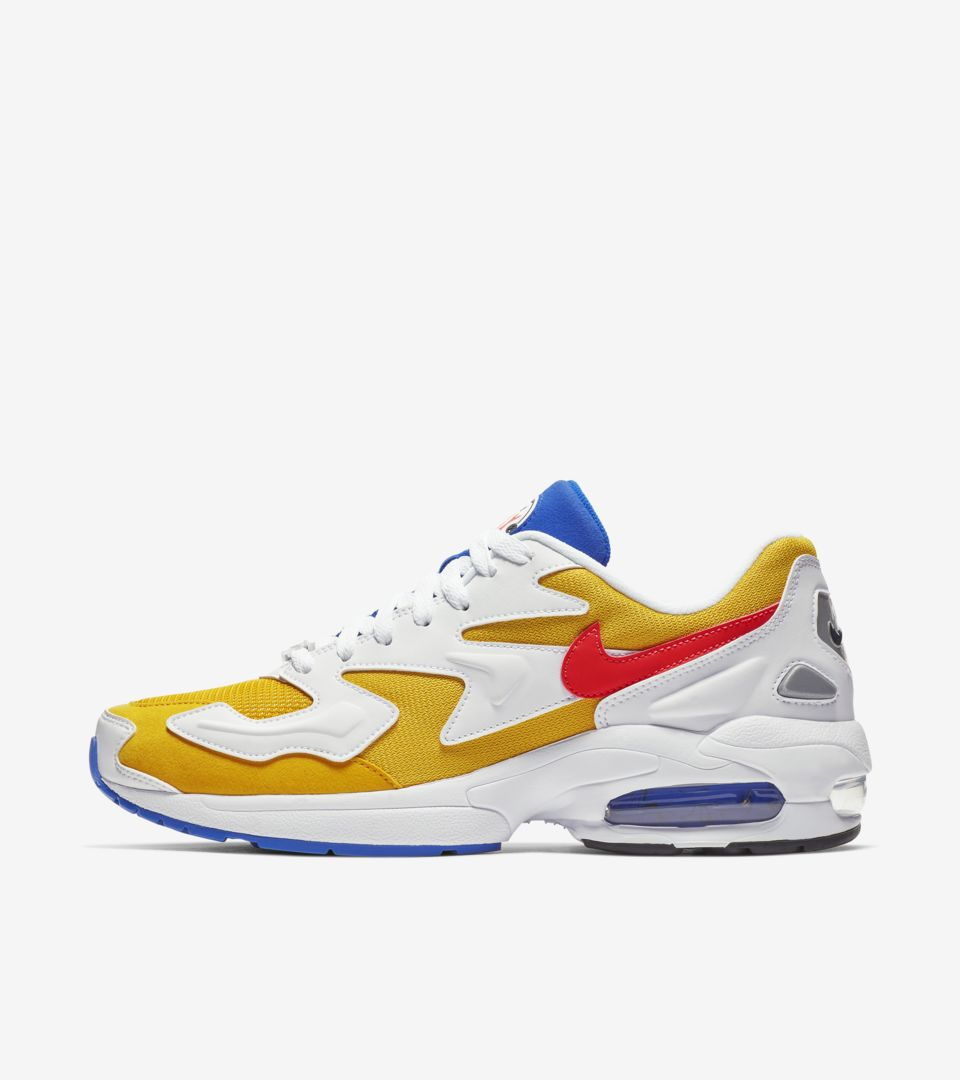 9945070ac8 Nike Air Max2 Light 'University Gold & Racer Blue & Flash Crimson' ...