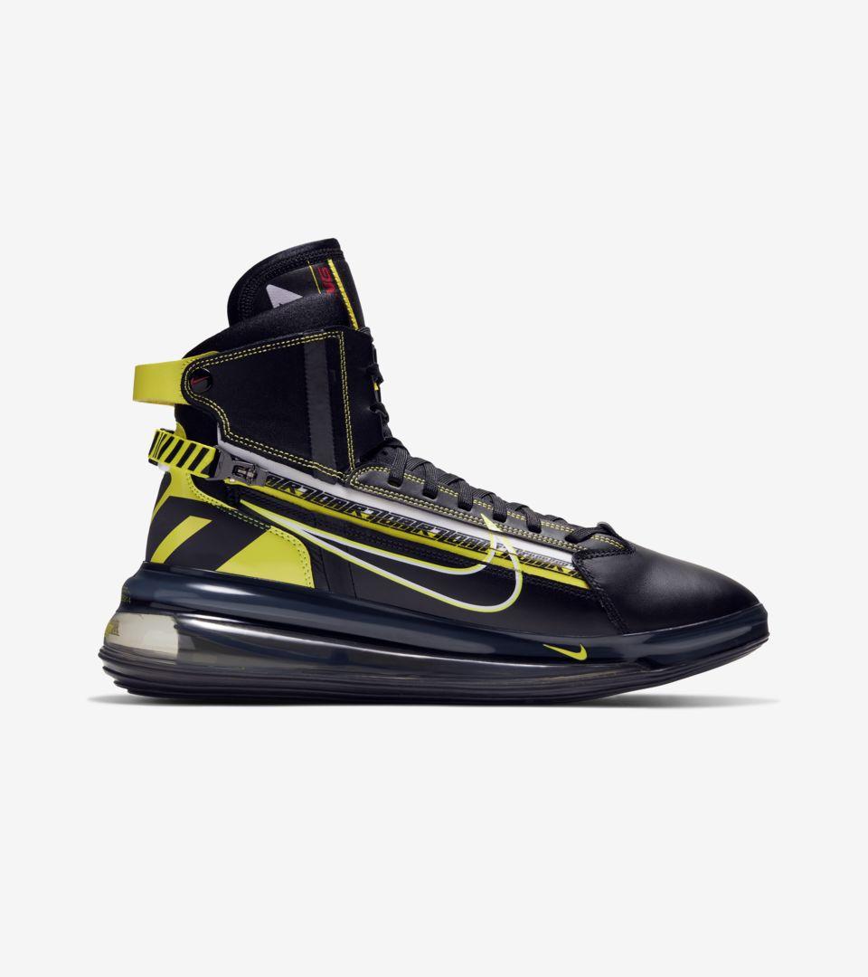 Nike Air Max 720 SATRN Motorsport 'Black & Dynamic Yellow