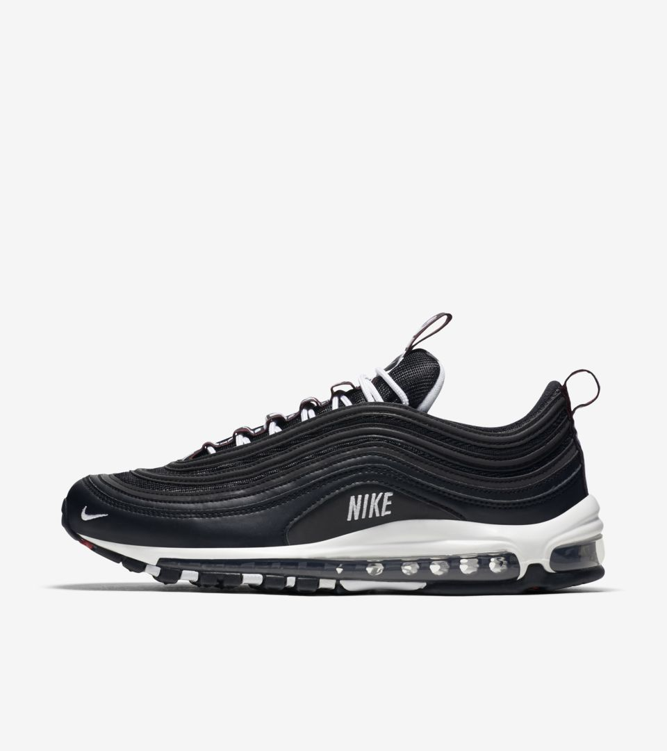 84eff70394 Nike Air Max 97 Premium 'Black & Varsity Red & White' Release. Nike ...