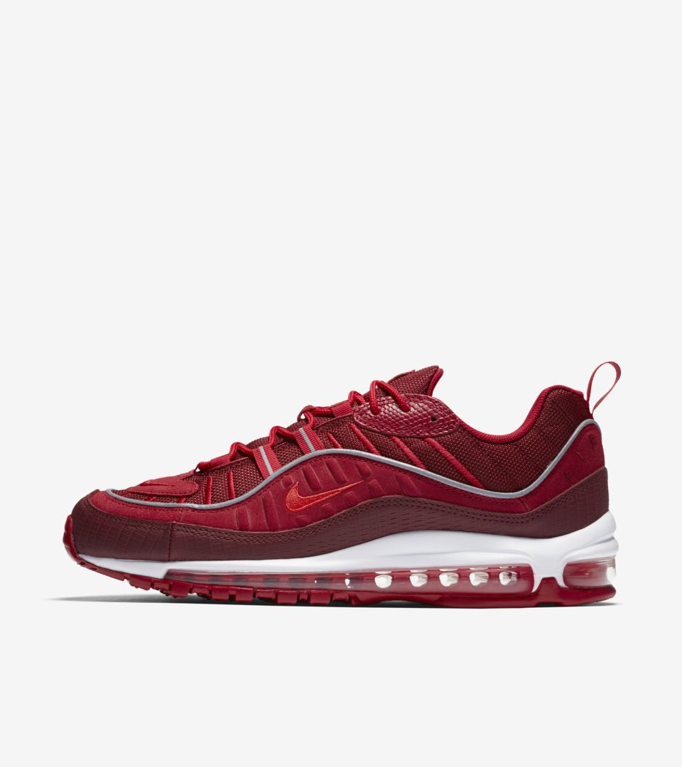 721cd2c69 Nike Air Max 98  Team Red  amp  Habanero Red  Release Date. Nike⁠+ ...
