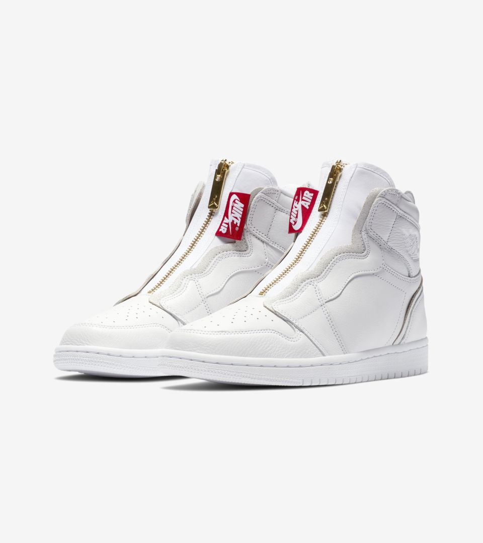 d19259bc696f33 Women s Air Jordan 1 High Zip  White   University Red  Release Date ...
