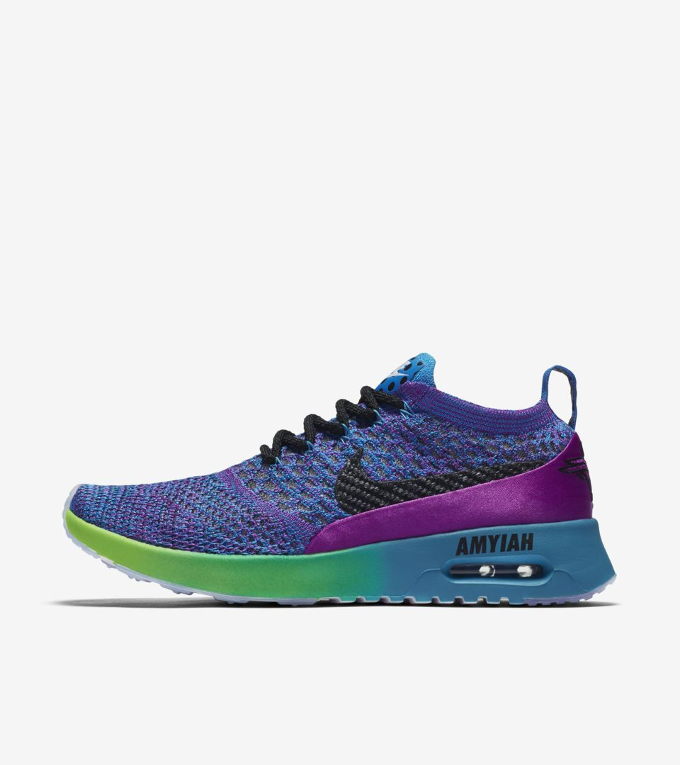 convertible Espectador Oral  Women's Nike Air Max Thea Ultra Flyknit Doernbecher Freestyle 2017 'Vivid  Purple & Blue Orbit' Release Date. Nike SNKRS