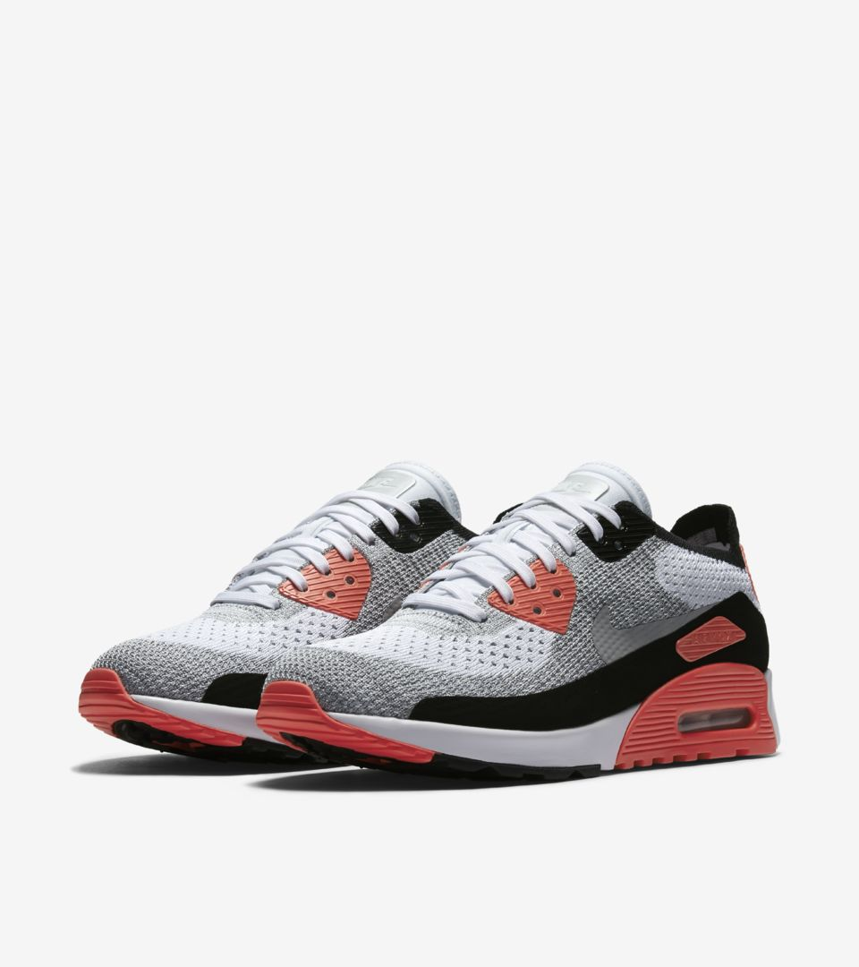 Air Bright Nike 2 Flyknit Max 90 0 Crimson Ultra Whiteamp