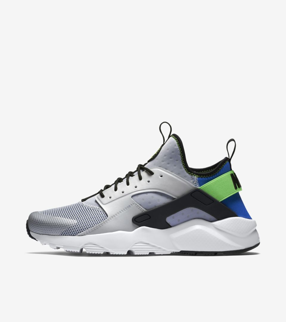 c2bfe5b37e49ab Nike Air Huarache Ultra  Royal Blue   Scream Green . Nike⁠+ SNKRS