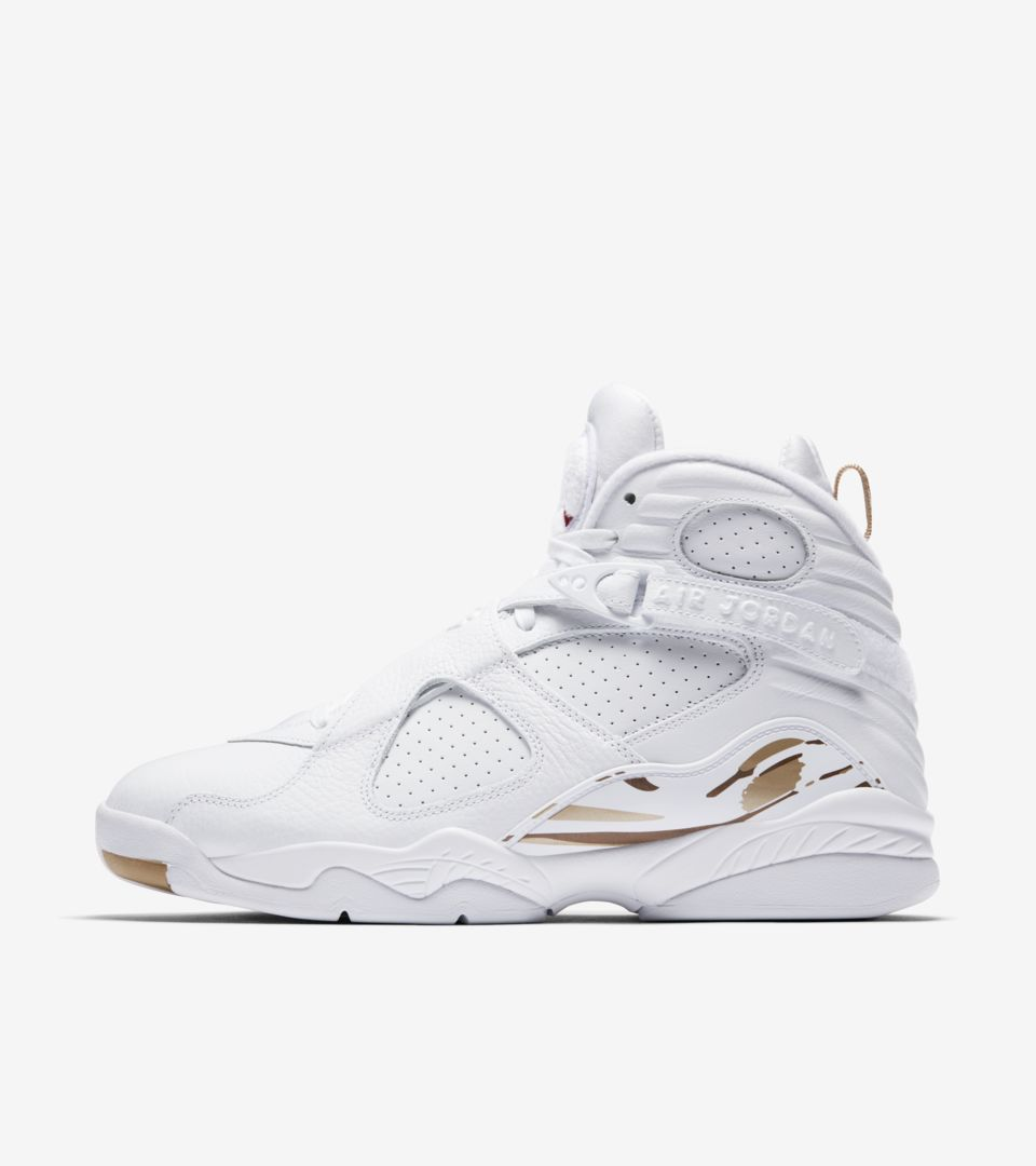 2ed7d41ba205 Air Jordan 8 Retro OVO  White   Metallic Gold  Release Date. Nike⁠+ ...