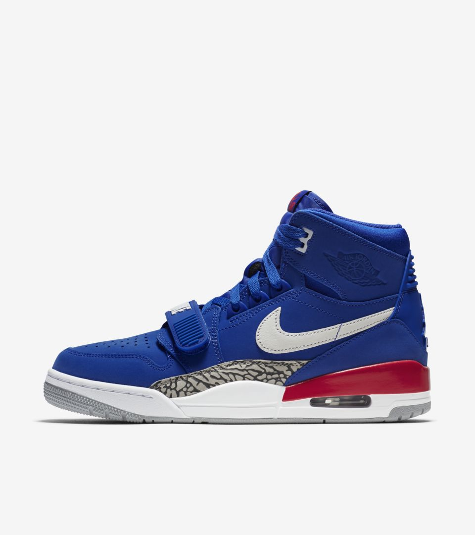 best sneakers 1a4bf 394cb Air Jordan Legacy 312  Bright Blue   University Red   White  ...