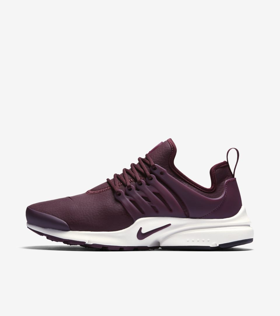 6b542e13b470 Women s Nike Air Presto Premium  Night Maroon . Nike⁠+ SNKRS