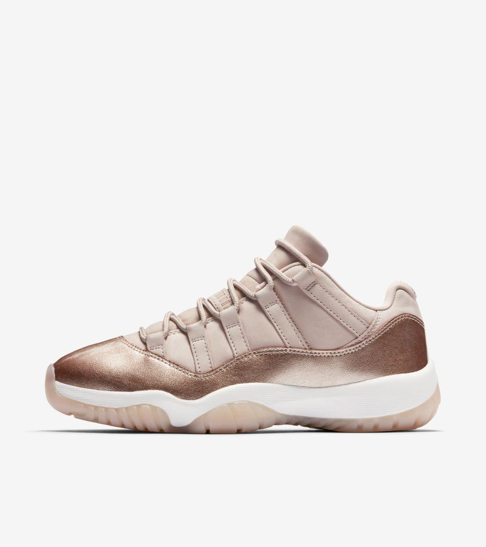 jordan 11 rosse  Women's Air Jordan 11 'Rose Gold' Release Date. Nike+ SNKRS