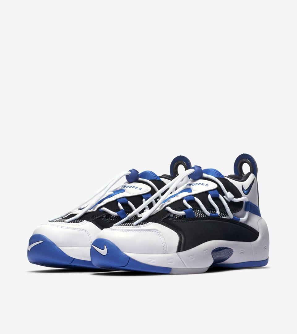 huge discount 71de0 9644c ... Womens Nike Air Swoopes II White  Black  Game Royal ...