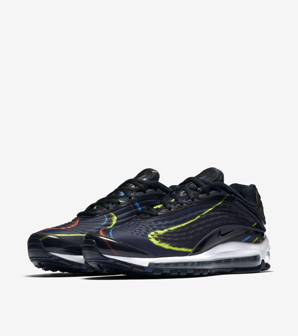 6a4e6ef194ca Nike Air Max Deluxe  Black   Multicolor  Release Date. Nike⁠+ SNKRS