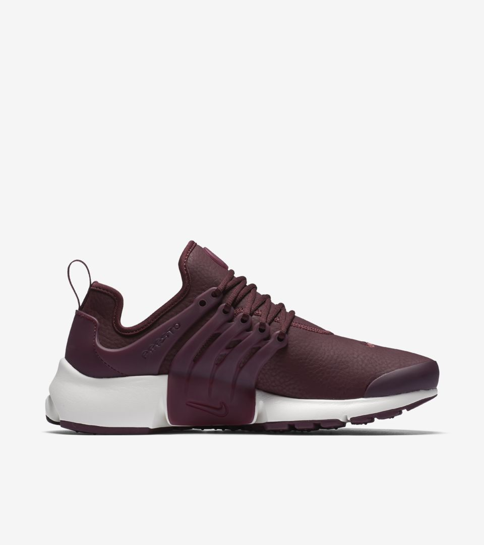 04f21aeb42fc Women s Nike Air Presto Premium  Night Maroon . Nike⁠+ Launch FI