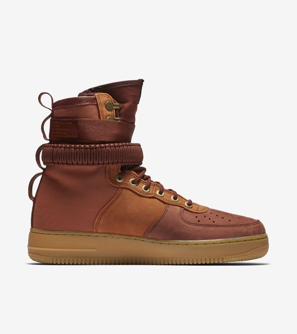 Nike SF Air Force 1 Premium 'Dark Russet & Gum Light Brown & Pueblo Brown' Release Date