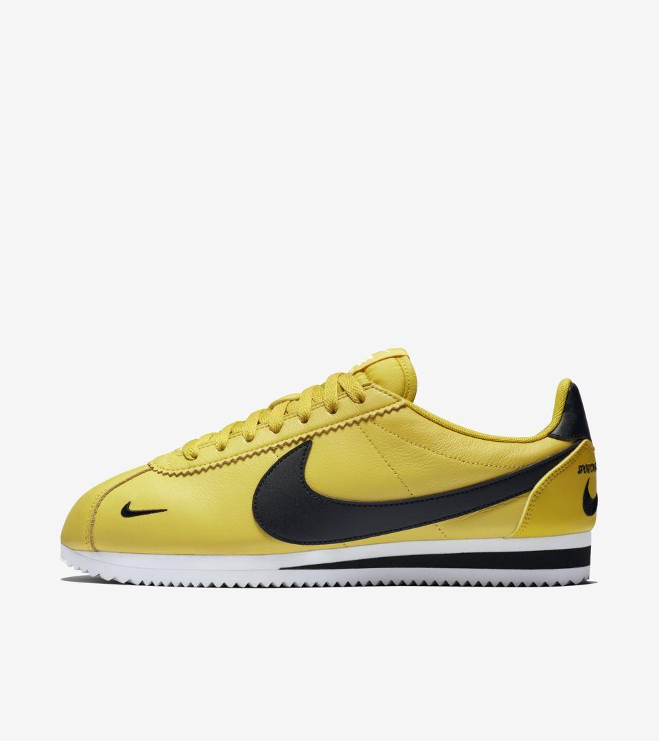superior quality 31208 9a56a Nike Classic Cortez 'Bright Citron & White & Black' Release ...