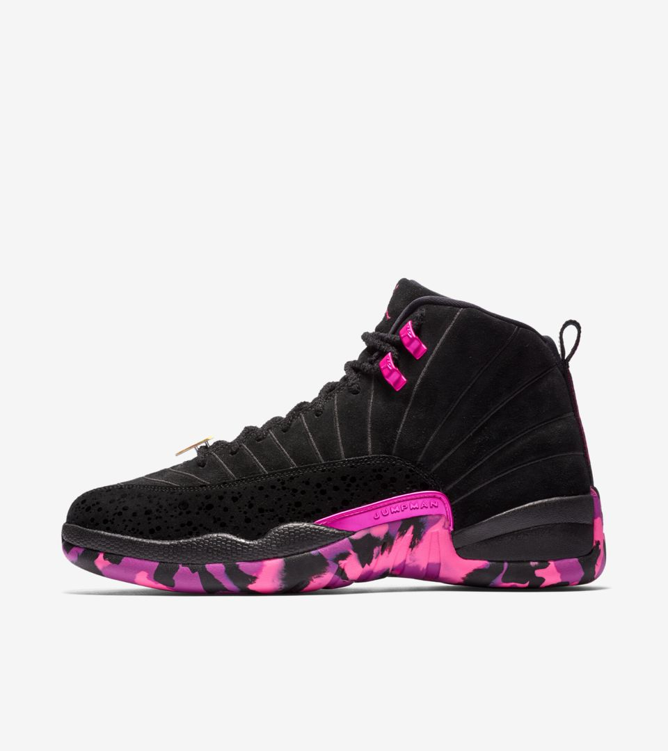 ee2ff22de055 Air Jordan 12 Retro Doernbecher Freestyle 2017  Black   Pink Blast ...
