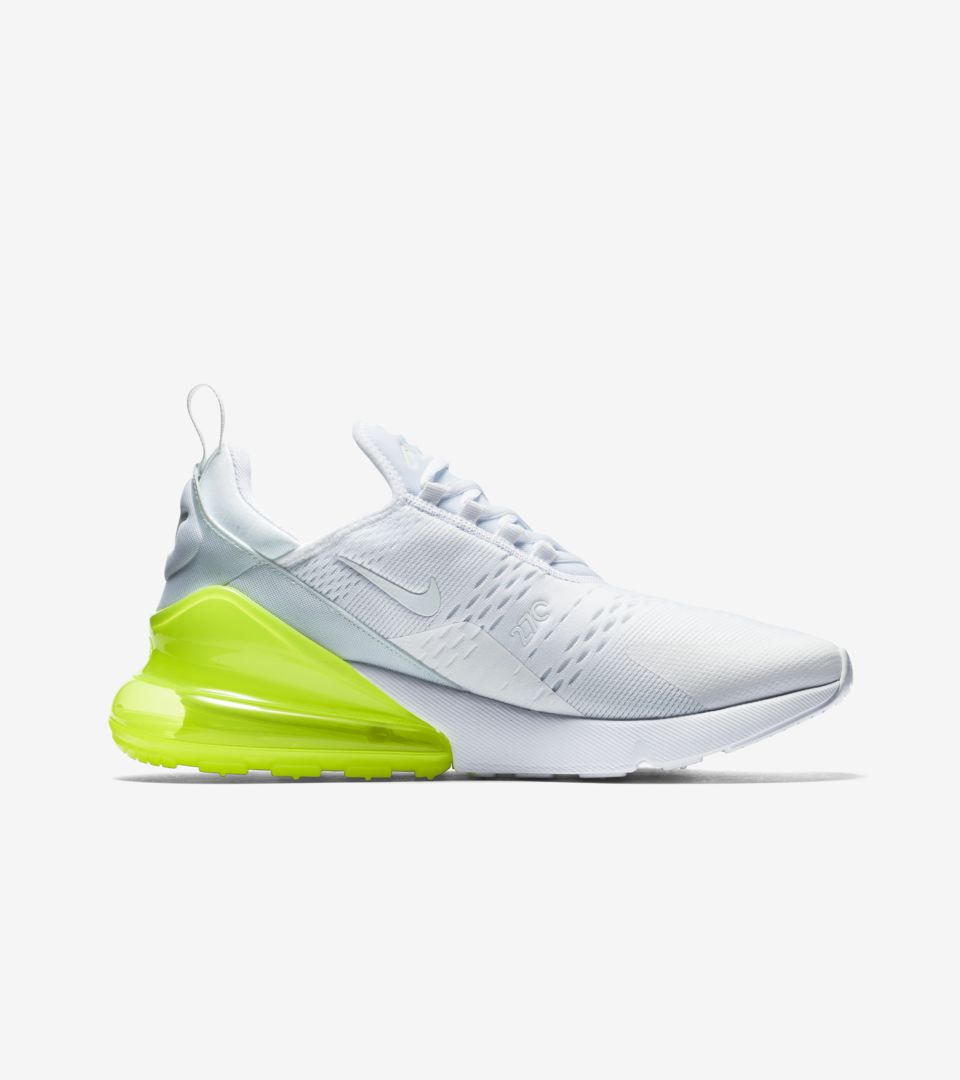 new product f12e5 76aac Nike Air Max 270 White Pack 'Volt' Release Date. Nike⁠+ SNKRS