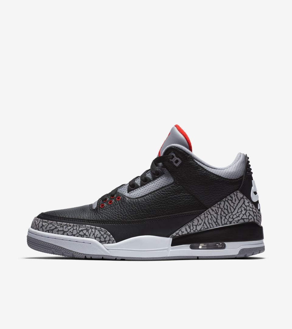 separation shoes 400c4 d4d11 Air Jordan 3 Retro OG 'Black Cement' 2018 Release Date ...