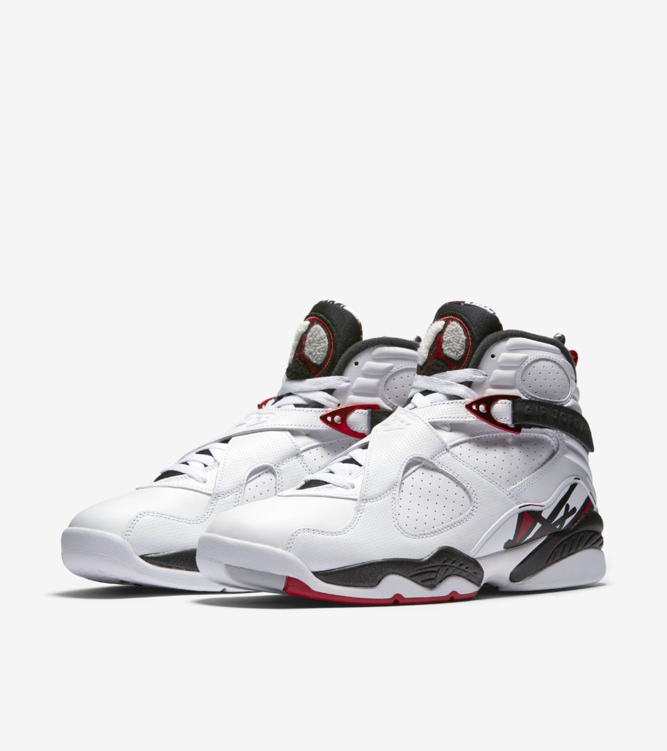 watch d96e2 7bc81 Air Jordan 8 Retro 'White & Black & Gym Red'. Nike⁠+ SNKRS