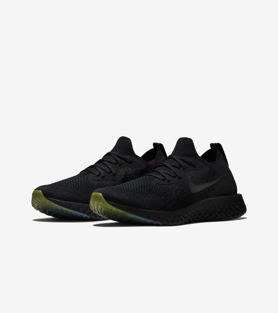 82a47fa09e1d2 Nike Epic React Flyknit Betrue  Black   Multicolor  Release Date ...