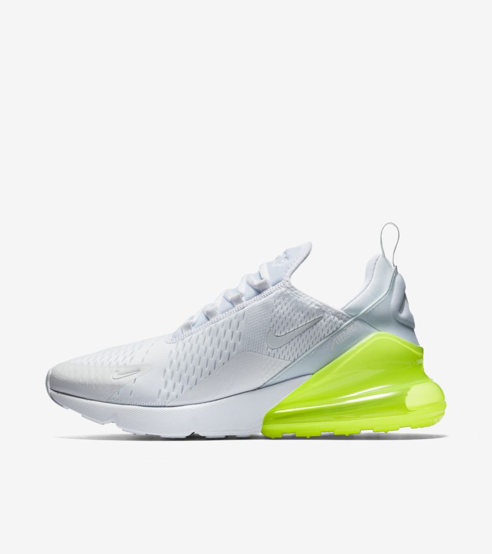 new product c770f 4faf3 Nike Air Max 270 White Pack 'Volt' Release Date. Nike+ SNKRS