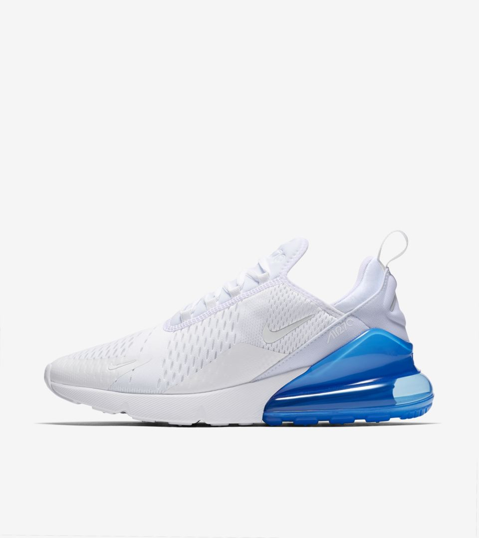 Nike Air Max 270 White Pack  Photo Blue  Release Date. Nike⁠+ SNKRS 7a2372d00