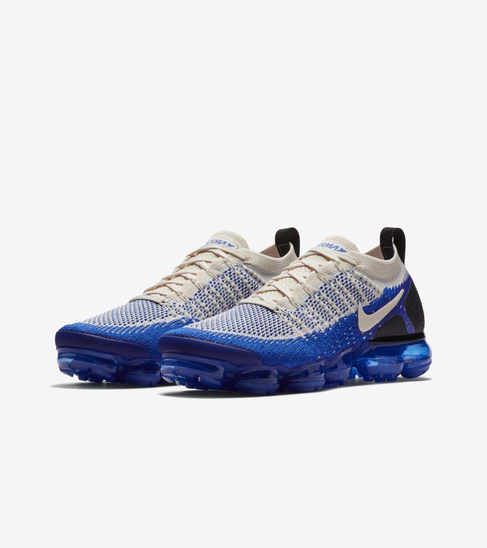 Nike Air Vapormax Flyknit 2  Light Cream   Racer Blue  Release Date ... d0de3a528