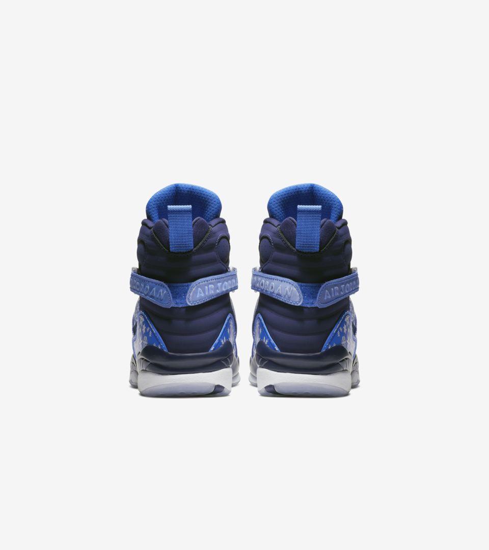 premium selection ec3dc db35b ... Big Kids  Air Jordan 8  Cobalt Blaze   White  ...