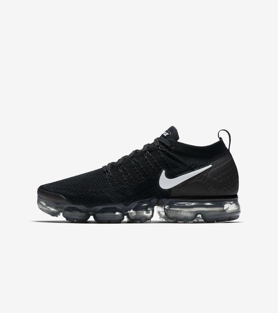 5ab7fa074ffa Nike Air Vapormax Flyknit 2  Black   Dark Grey  Release Date. Nike+ SNKRS