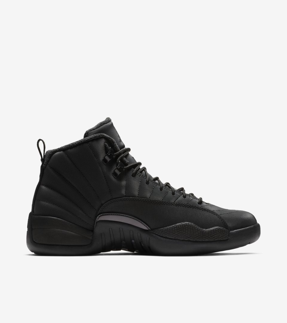 b5d98284813928 Air Jordan 12 Retro Winter  Black   Anthracite  Release Date. Nike⁠+ ...