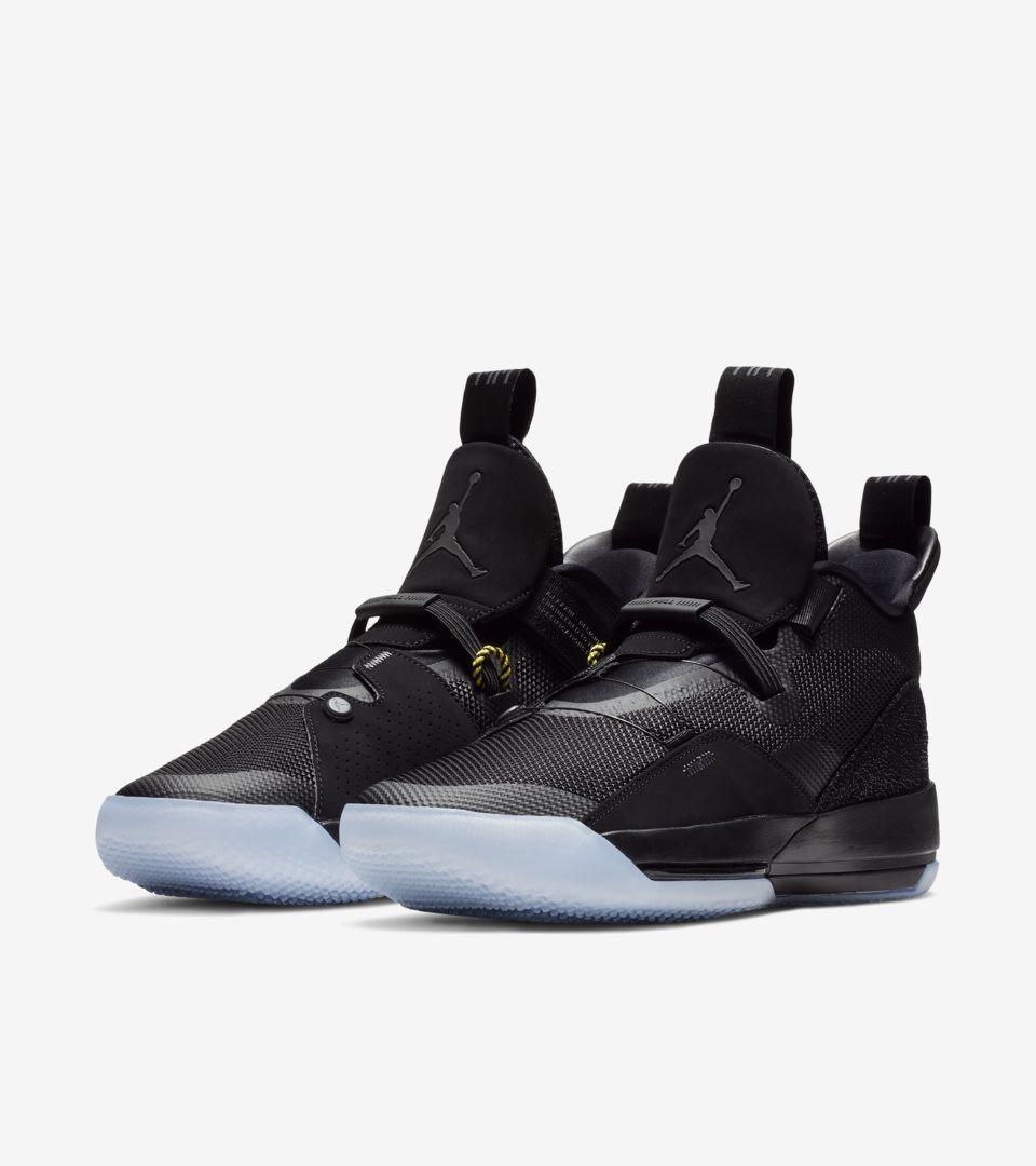 new concept af034 9035c UTILITY BLACKOUT. Air Jordan XXXIII PF  Black   White   Dark Grey  ...
