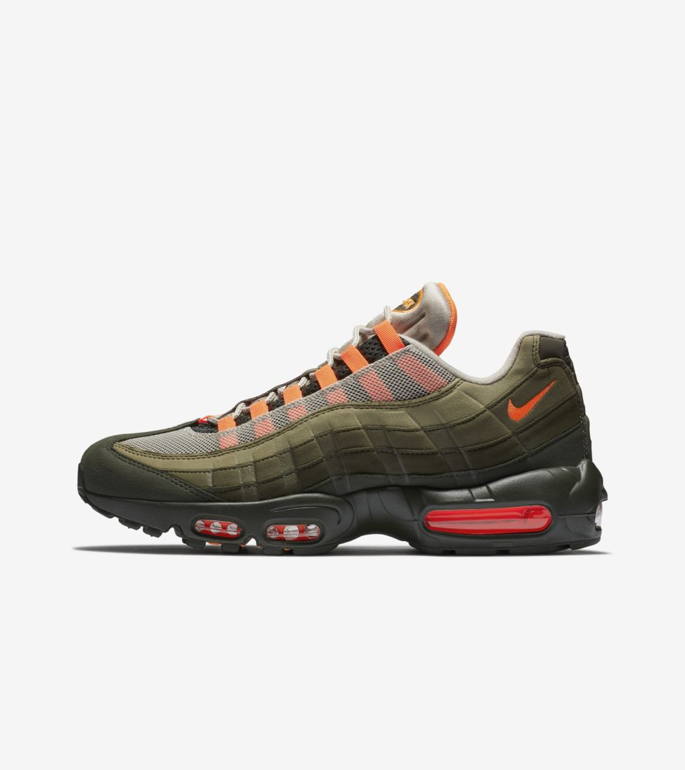 official photos c0137 7be7d Nike Air Max 95 'Total Orange & Medium Olive' Release Date ...