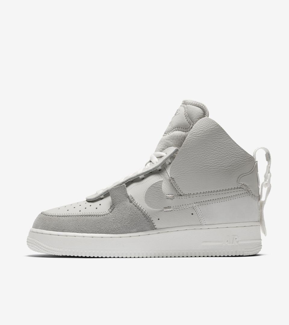 sports shoes added acebd ... Nike Air Force 1 High PSNY  Light Bone  Release ...