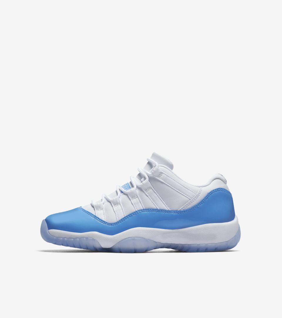 ed9f12f3ec7 Air Jordan 11 Retro Low  White   University Blue . Nike+ SNKRS