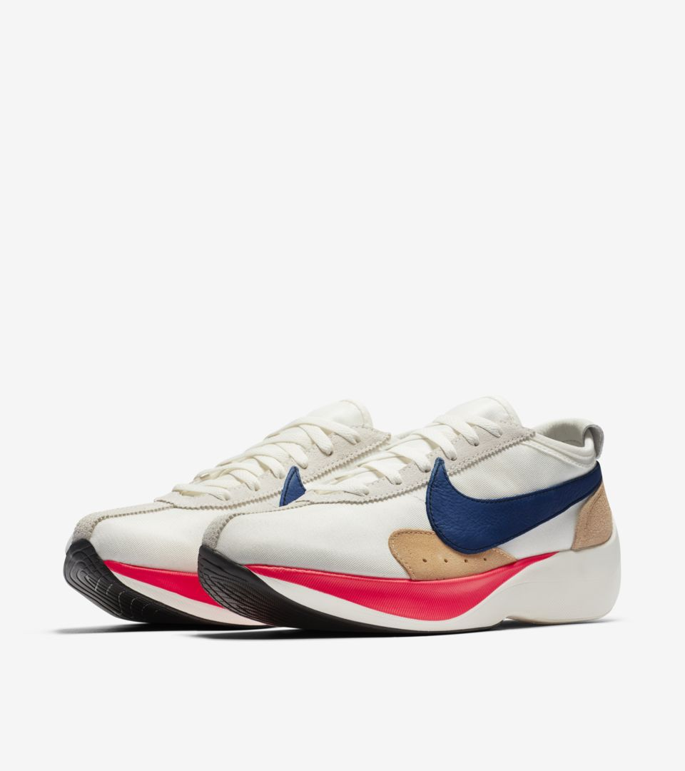 new concept 64315 02a54 Nike Moon Racer  Sail   Solar Red   Gym Blue  ...