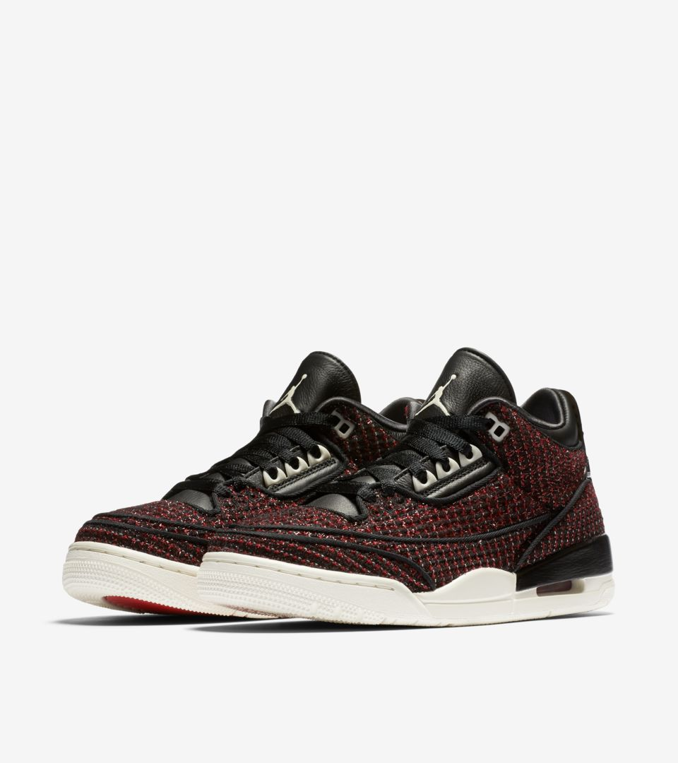 Women's Air Jordan 3 AWOK ' University Red & Sail & Black' Release Date