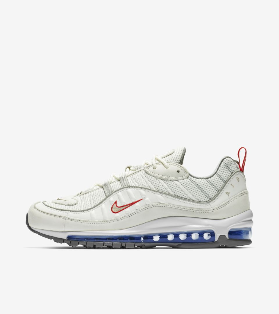 Nike Air Max 98 'Summit White & University Red & Racer Blue' Release Date