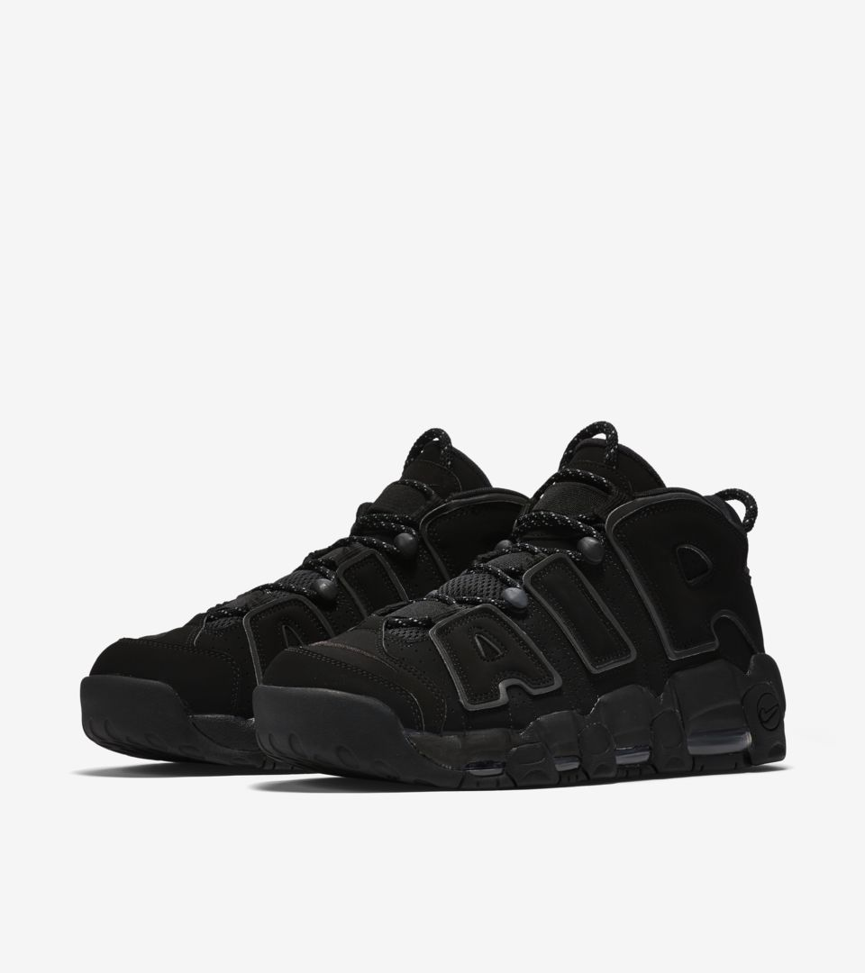 f96289a046f5 Nike Air More Uptempo  Triple Black  2017. Nike⁠+ SNKRS