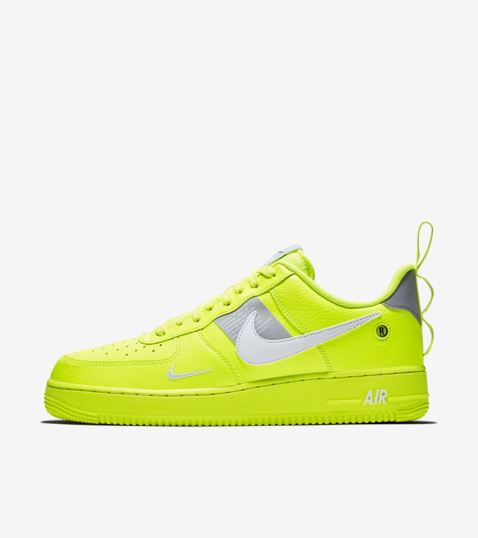 b39c28f1e6 Nike Air Force 1 Lv8 Utility 'Volt and Wolf Grey and White' Release ...