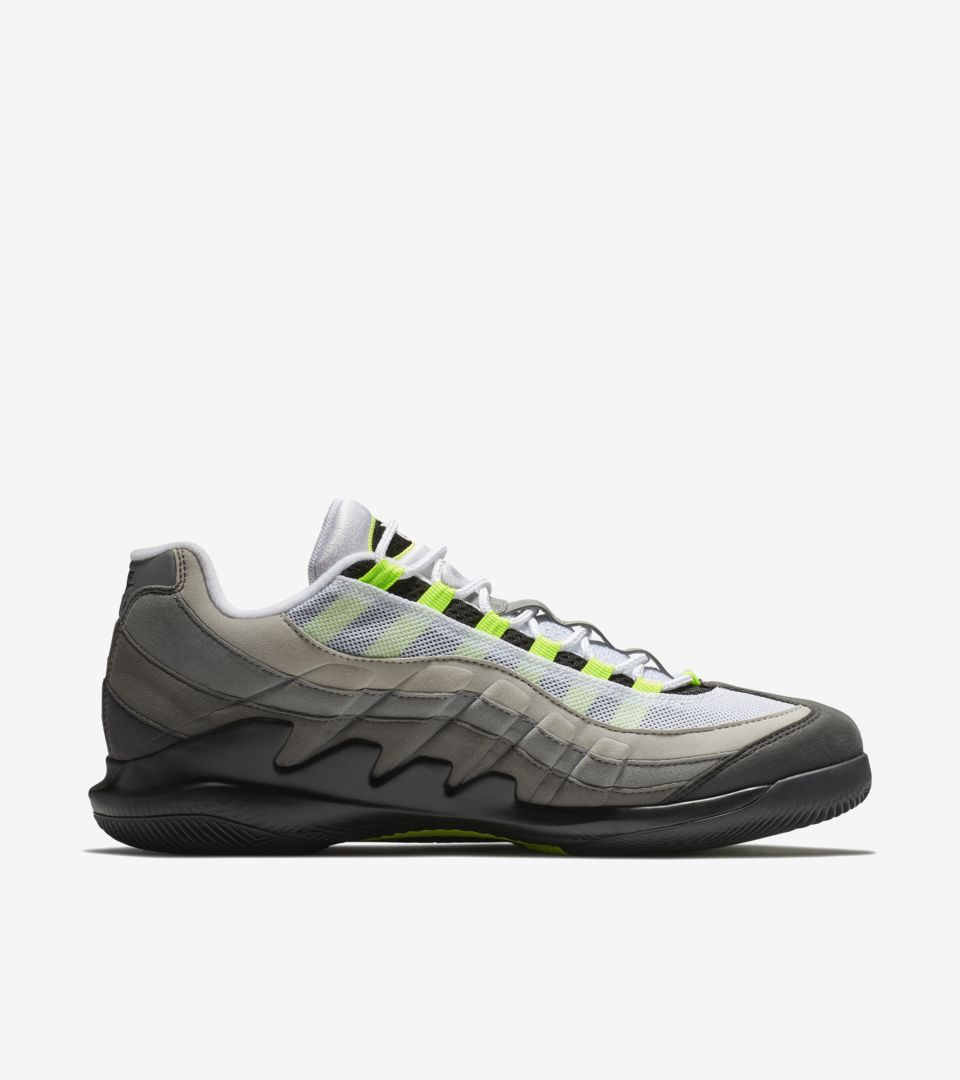 6be4cfe4cecea7 NikeCourt Vapor RF x AM95  Black  amp  Volt  Release Date. Nike+ ...