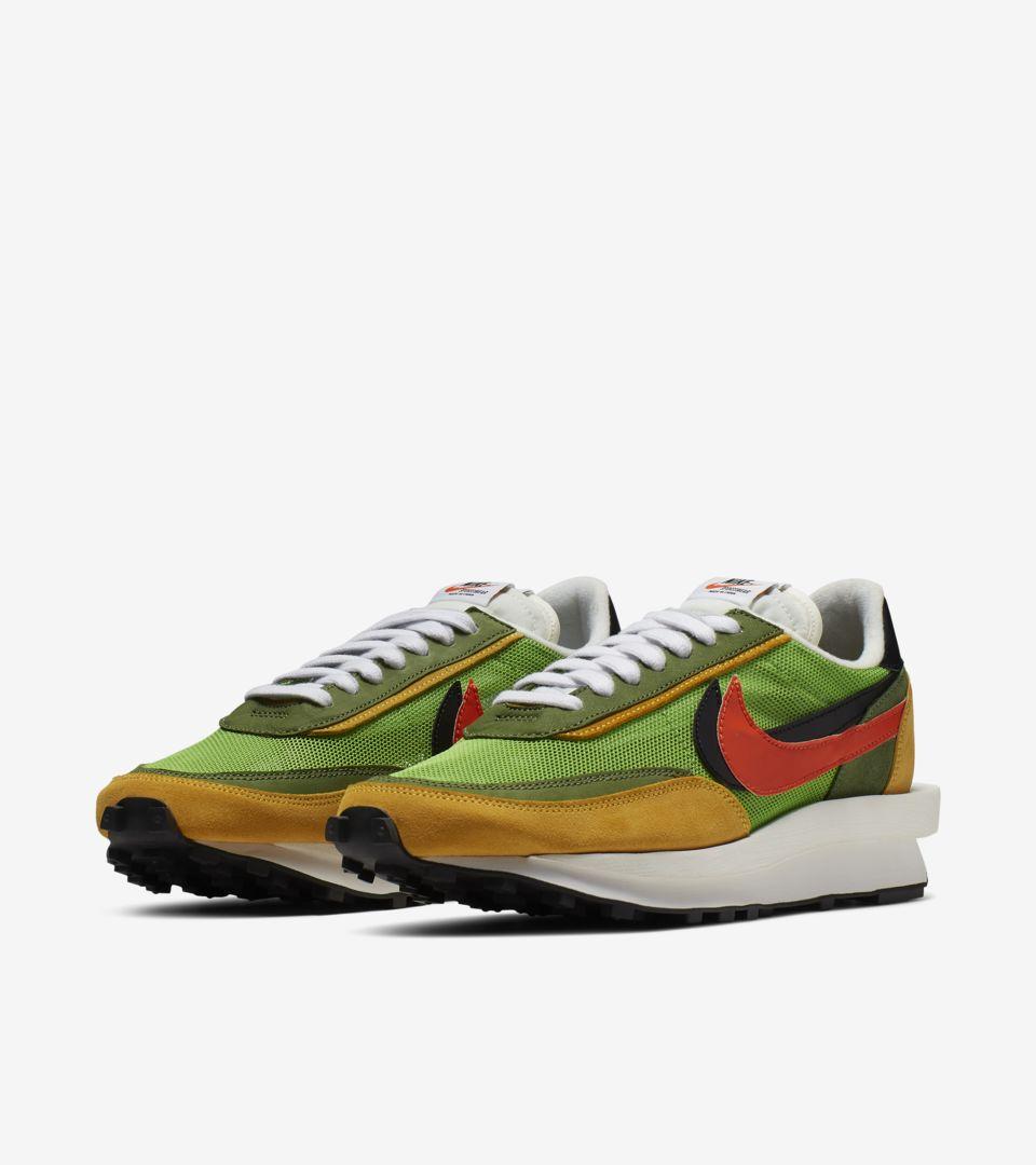 Nike LDWaffle Sacai 'Green Gusto & Varsity Maize & Safety Orange' Release Date