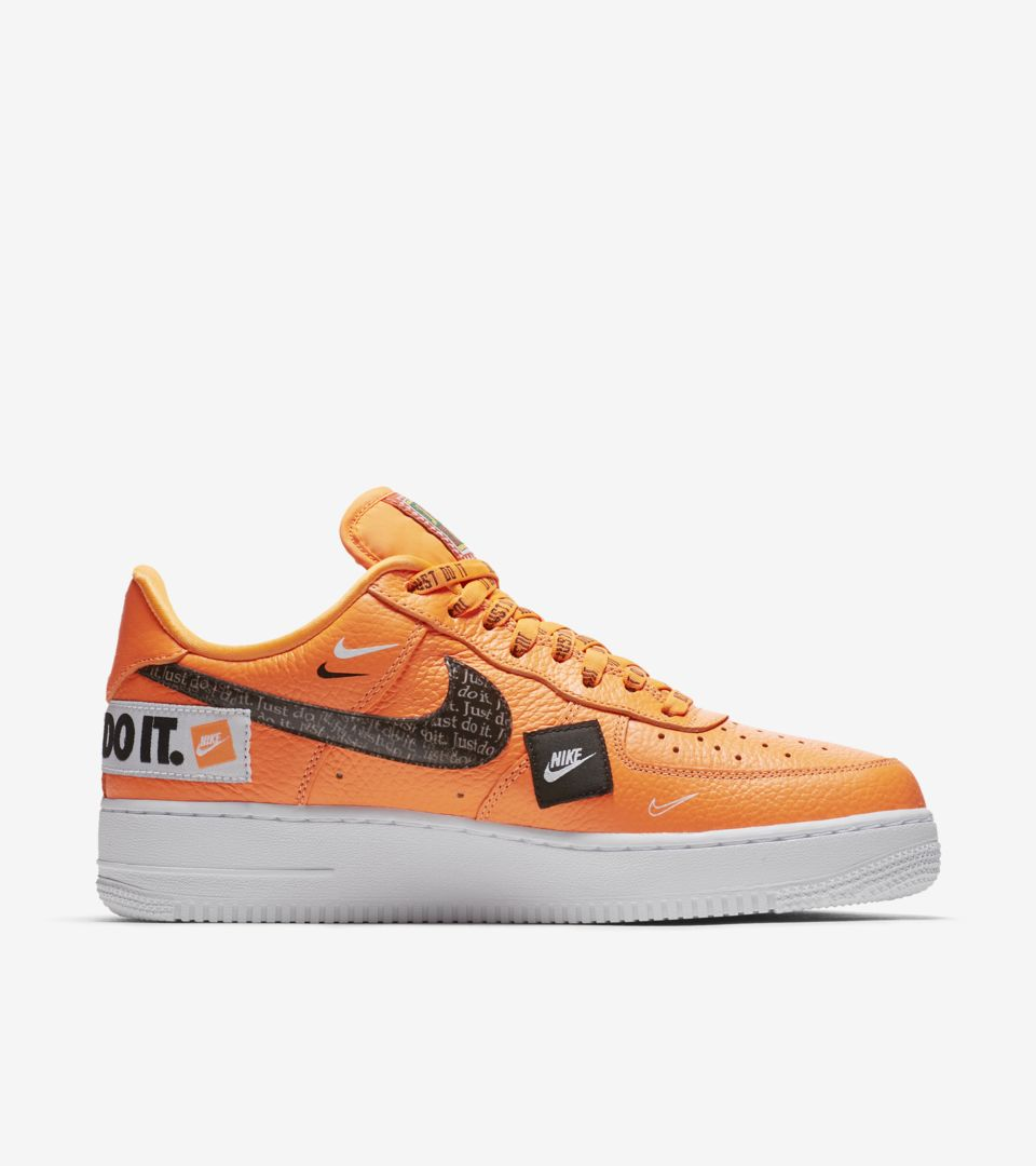 58046b8ce3482 Nike Air Force 1 Premium Just Do It Collection  Total Orange  Release Date.  Nike⁠+ SNKRS
