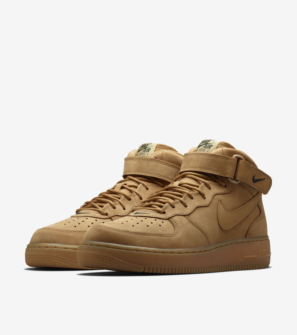 quite nice 87406 b9d3f Nike Air Force 1 Mid 'Flax'. Release date. Nike⁠+ SNKRS